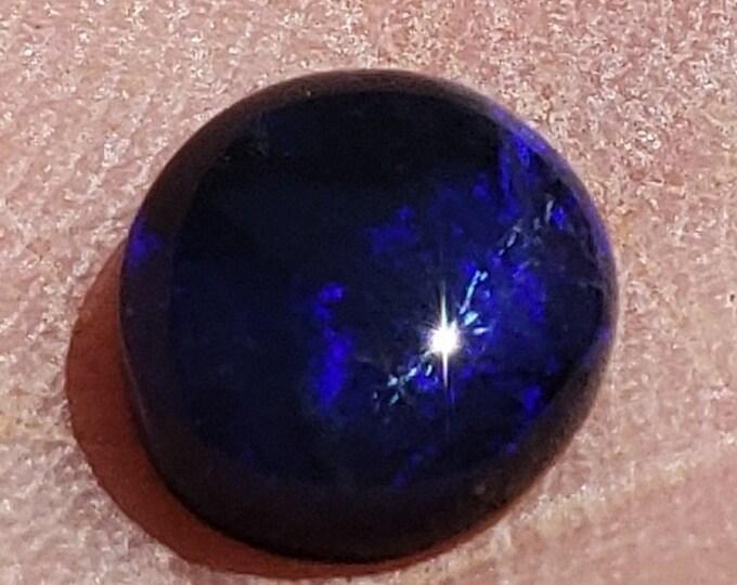 0.95 Ct. Black Opal - Lightning Ridge, Australia - 7 mm - Natural - Ring Stone