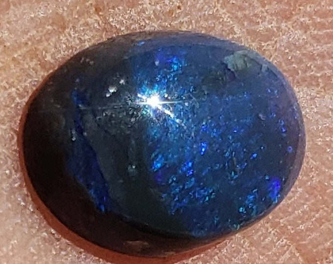 1.1 Ct. Lightning Ridge Black Australian Opal - 9.7 x 7 mm - Natural