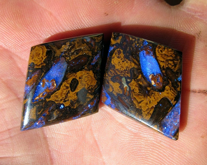 74.4 Ct. Pair Of Boulder Opals - Australian - Koroit