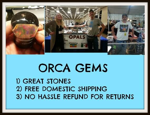 25 CT. Opale Opale Opale du Mexique Cabochon - solide Orange - 26 x 16 mm 7a7a0f