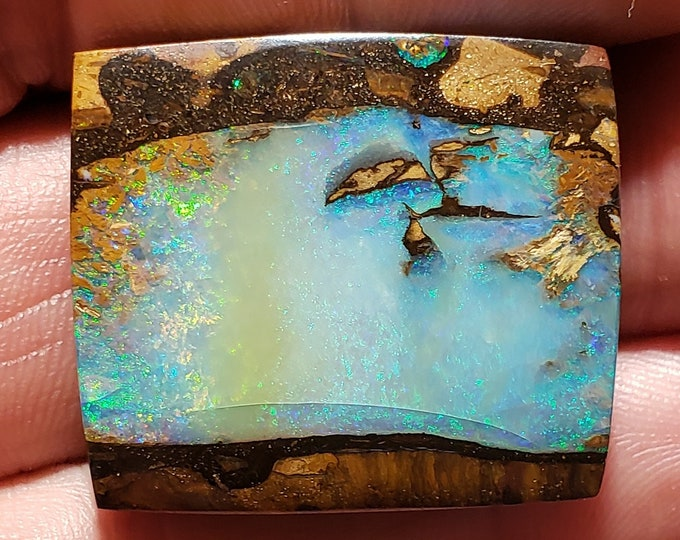 92 Ct. Boulder Opal - Koroit Australia - 32 x 27 mm