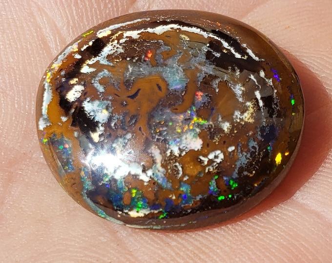 43.5 Ct. Yowah Boulder Opal - 25 x 24 mm