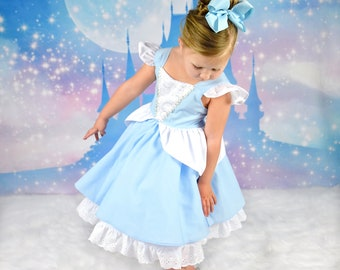 The perfect Cinderella dress with built in underskirt