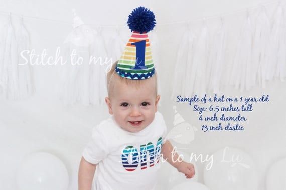 Custom Birthday HAT ONLY First Party Red White Blue