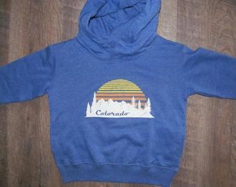 Colorado Mountain and Sunset Youth Hoodie Kids Sweatshirt Snowmass