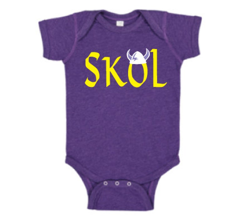 549907bfe80 So Cute Skol Vikings One piece Football Infant Bodysuit Baby