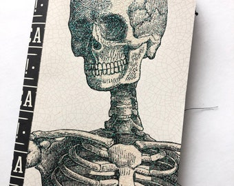 Skeleton Scrapbook | Junk Journal | Halloween Theme Pocket Journal | Memory Book