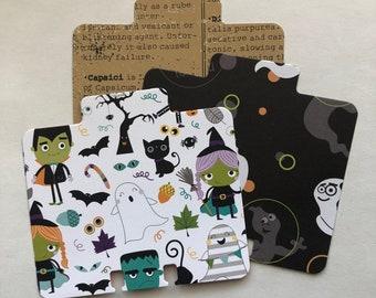 Halloween Memory Dex Card Blanks | Halloween Paper Memory Dex Cards | Pre-Cut Memory Dex Cards