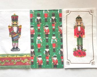 18 Assorted Decoupage Christmas Napkins, Christmas Napkins, Decoupage Napkin