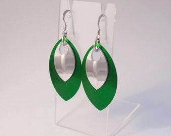 Shield earrings, silver, shield maiden jewellery, jewelry, statement earrings