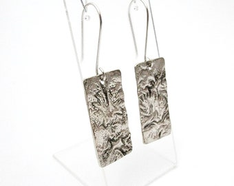 Textured Sheet Earrings | Sterling Silver Jewellery| | READY TO SHIP | Metalsmith Jewelry | Reticulated | Terra | Artisan | Earth | Moon