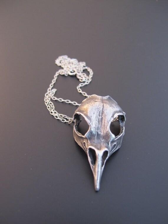 Bird Skull Pendant Necklace Anatomy Jewelry Skull Jewelry