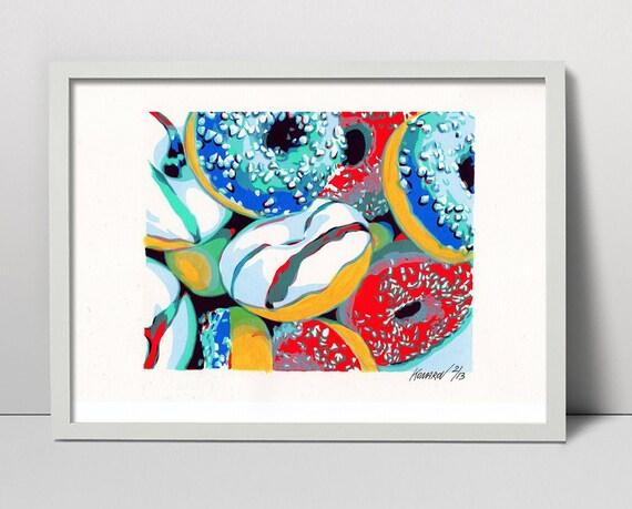 Aquarell ArtPrint  30x 20cm Geschenk
