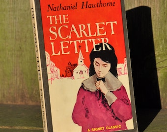 The Scarlet Letter by Nathaniel Hawthorne 1961 a literary classic book