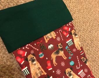 Border Terrier Christmas Stocking