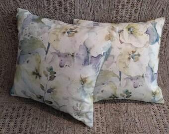 Watercolour style Flora & fauna cushion covers