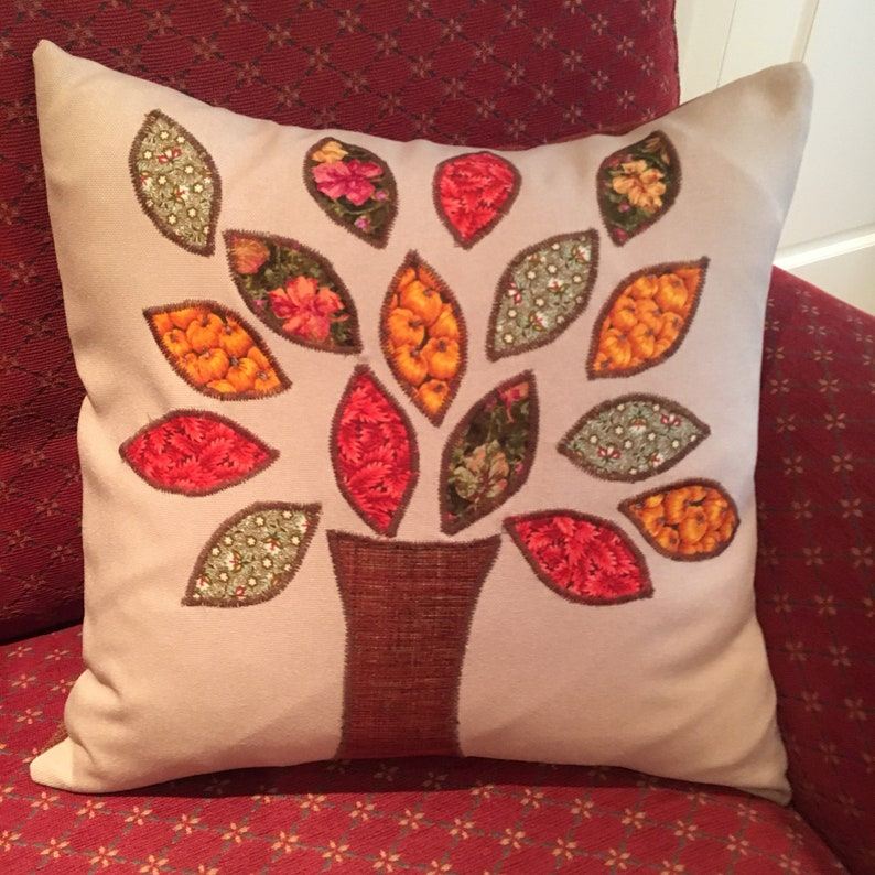 Autumn Tree Cushion Cover / Pillow Cover image 1