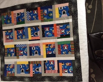 In The Doghouse- Unfinished Scrappy Baby Quilt Top