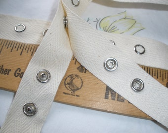 Hook and Loop Tape By The Yard  1 Wide White Sew On Or Use Sealah No Sew Press andStick Adhesive