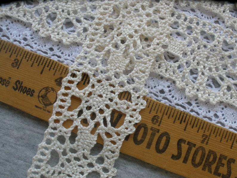 Antique Blue Cotton Scalloped Edge Lace Trim 10mm