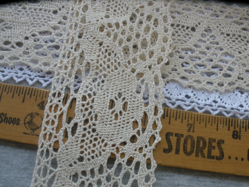 Cluny Lace 3//8 inch wide natural color  price for 2 yard