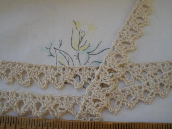 Metre 32mm Natural Cream Crochet Cotton Scallop Edge Wedding Lace Ribbon