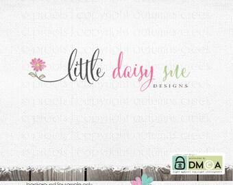 Premade Logo daisy logo watercolor logo Photographer logo photography logos and watermarks floral logo florist logo shop logo premade logos