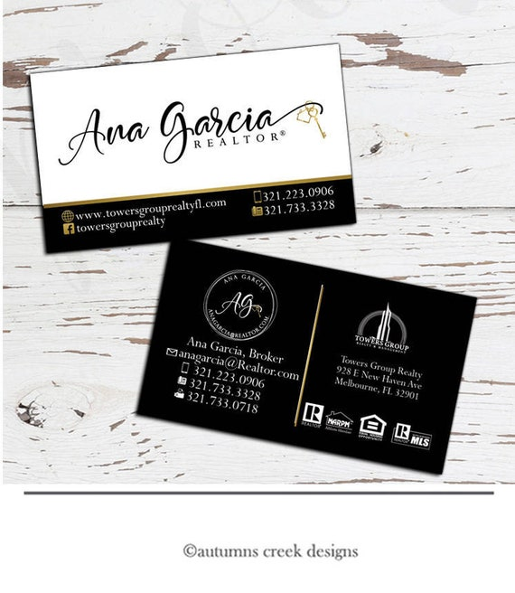 Business card design real estate business card real estate etsy colourmoves