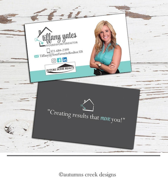 Business card design real estate business card real estate etsy image 0 reheart Choice Image