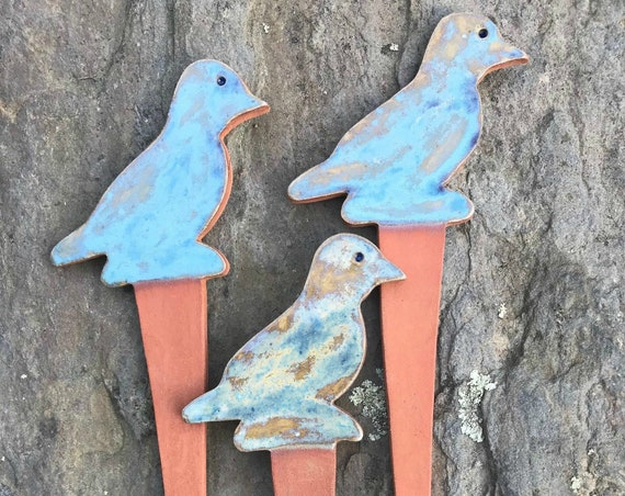 Bird Vegetable Garden Markers  Herb Plant Markers ~ Cape Cod Blue