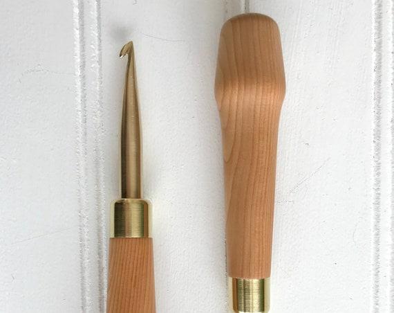 The Irish Hook { Hartman Hook } for Rug Hooking - 8mm Slim Hook