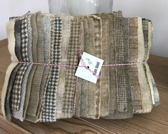 Hand Dyed Wool Bundles