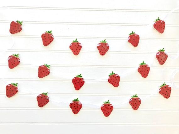 Handmade Strawberry Pottery Garland ~ Banner ~