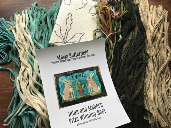 RUG HOOKING KIT - Hilda and Mable's Prize Winning Beet on Linen