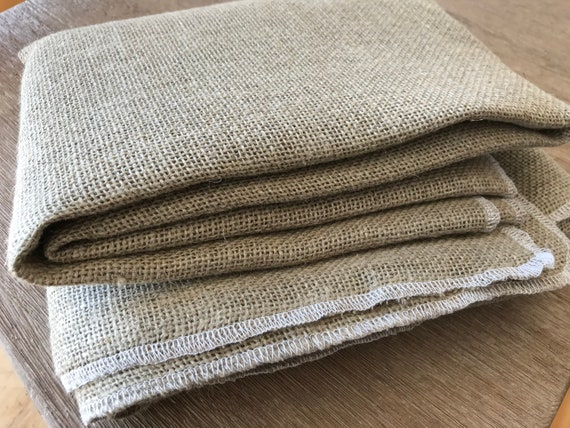 """Primitive Linen for Rug Hooking with Serged Edges, 1 Yard 64"""" x 36"""""""