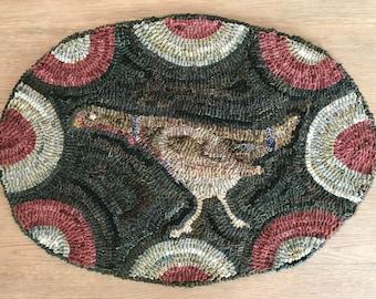 Olde Heritage Turkey  ~ Rug Hooking Pattern on Linen