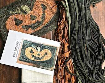 RUG HOOKING KIT - Happy Jack Pumpkin on Linen
