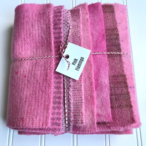 Limited bundles 2 Textures Wines Rug Hook and a light wine-Pink Hand dyed Wine Bundle- Mottled Wine Wool Yardage 4 Fat 18/'s Applique