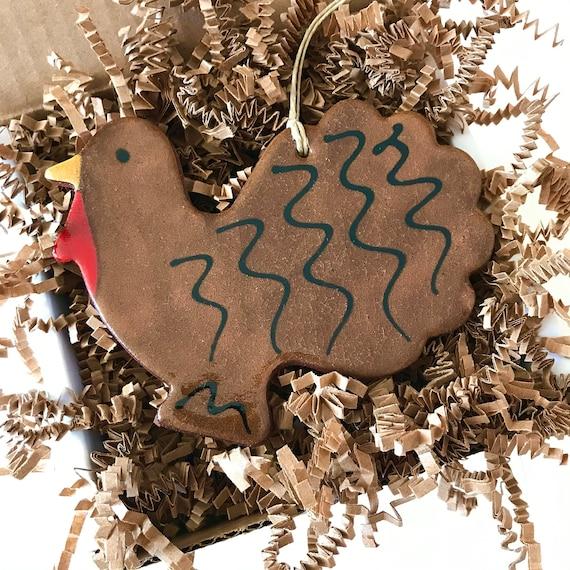 Turkey Redware Pottery Ornament