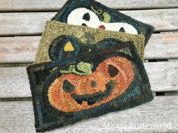 Rug Hooking Pattern Happy Jack on Linen or Paper