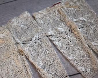 Lace Pants /Newborn Girl Lace Leggings / Off White