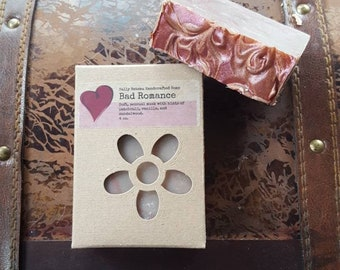 BAD ROMANCE- A sensual blend of musk, sandalwood, patchouli, and vanilla, a nourishing soap to help you write your own bad romance