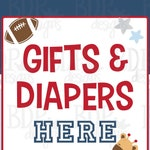 Future All Star Sports Baby Shower Gifts & Diapers Here INSTANT DOWNLOAD Basketball Baseball Football Jungle Animals Printable diy MVP