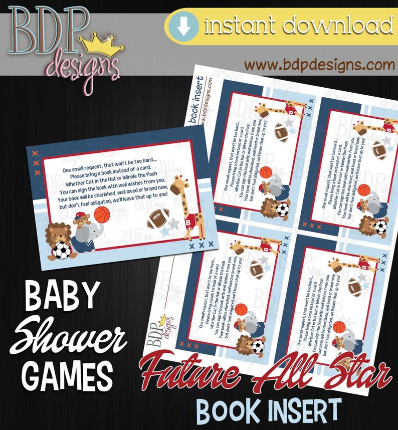c27a98d7ac572 Future All Star Baby Shower, Future All Star Book Insert, Future All Star  Books for Baby, Books for Baby Insert, Books for Baby Download