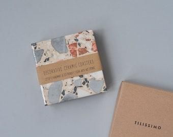 Terrazzo Coasters Ceramic Tile Coasters