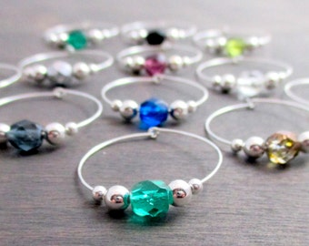 Wine Glass Charms Etsy
