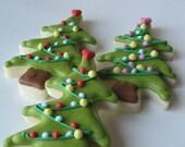 Oh CHRISTMAS TREE Sugar cookies - 1 dozen