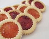 Jam Rings Vanilla Shortbread Cookie Sandwiches - 1 dozen