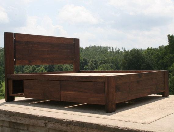 ndrnv07 solid hardwood platform bed with 4 drawers plus. Black Bedroom Furniture Sets. Home Design Ideas