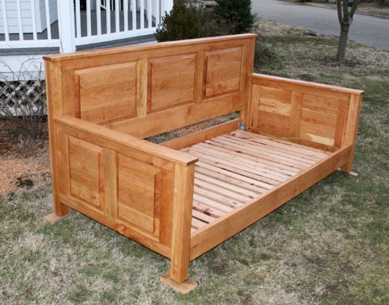 natural color DcRnP1 Paneled Day Bed or Couch Bed